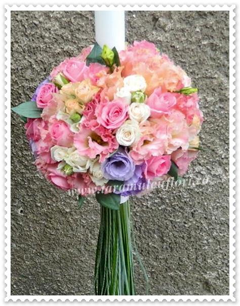 Lumanari de nunta lisianthus colorat.3907
